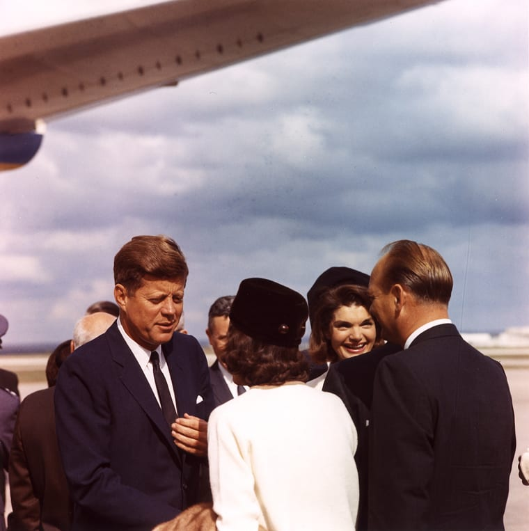President and Mrs. Kennedy arrive in San Antonio - November 21st, 1963 (Kennedy Presidential Library and Museum)