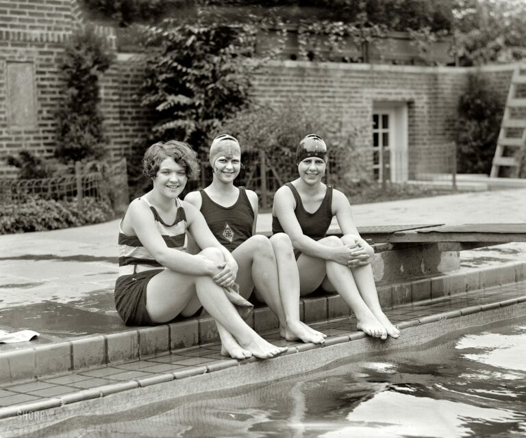 "June 21, 1926. Washington, D.C. ""Peggy Walsh, Clytie Collier and Ethel Barrymore Colt."" National Photo Company glass negative."