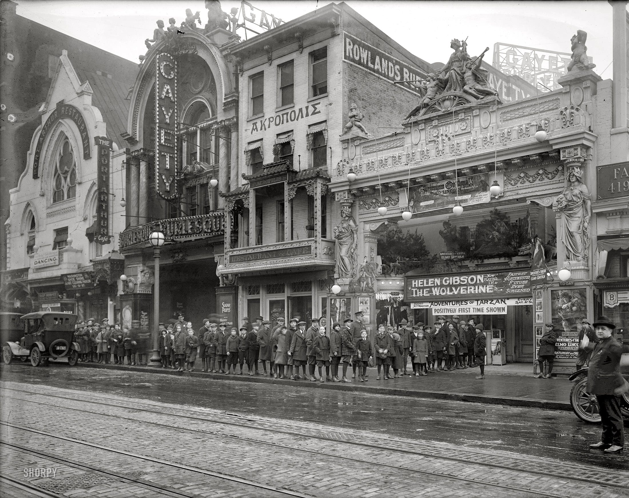 Leader Theater and Gayity Theater circa 1922
