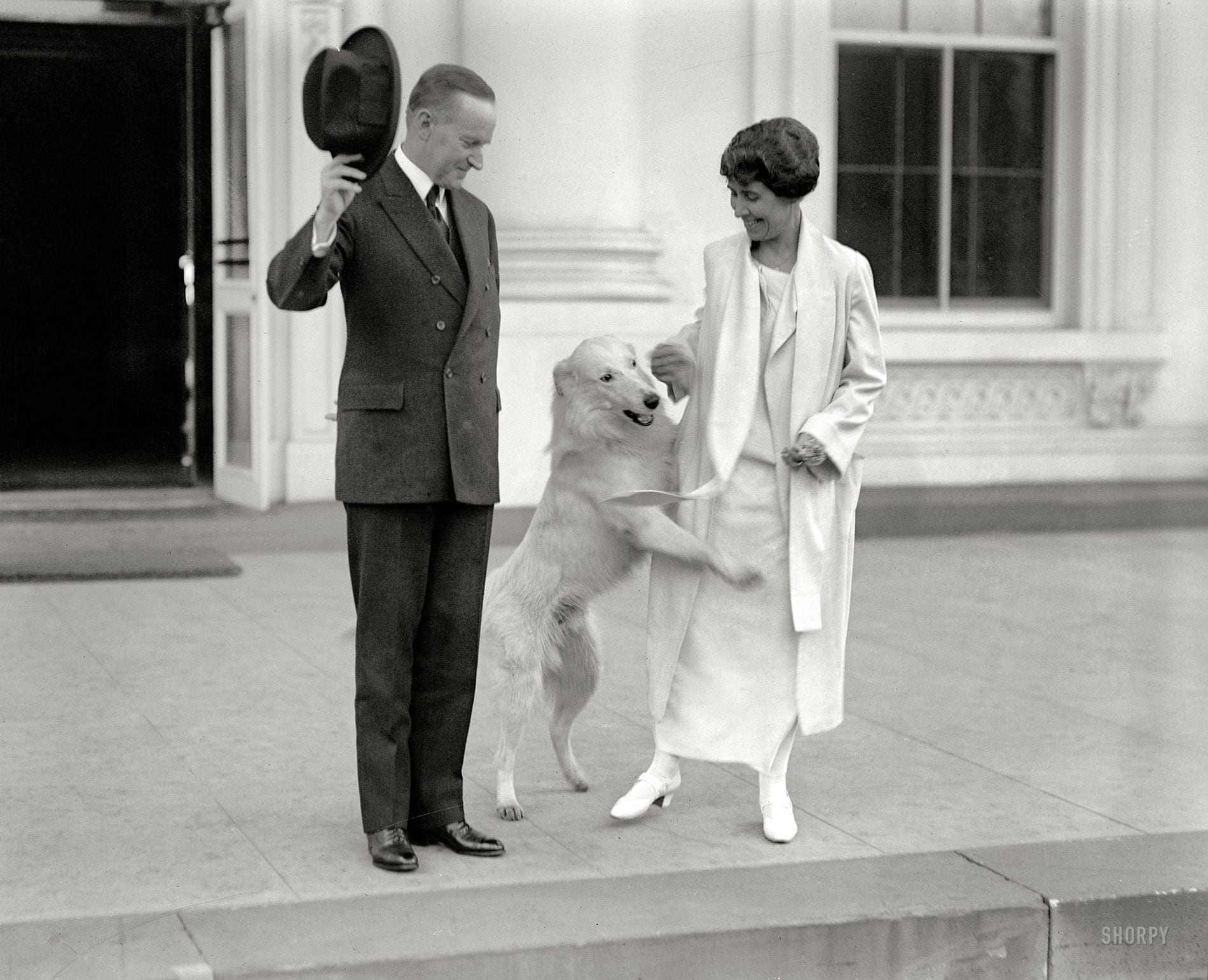 Dog Humps Leg of First Lady Grace Coolidge