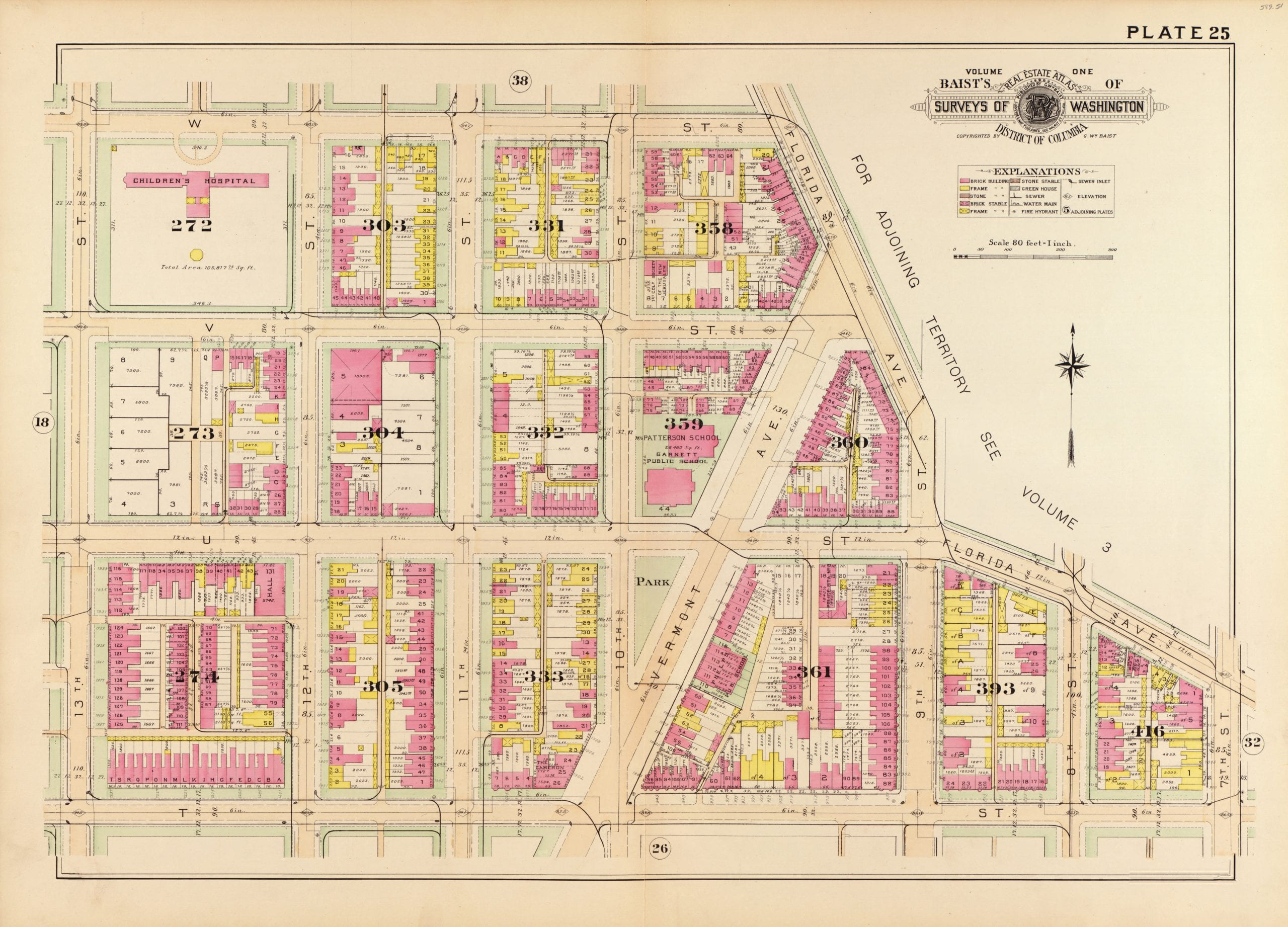 Baist map of U St. and Shaw (1903)