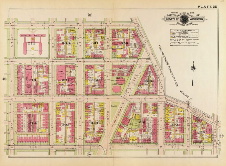 Baist map of U St. and Shaw (1921)