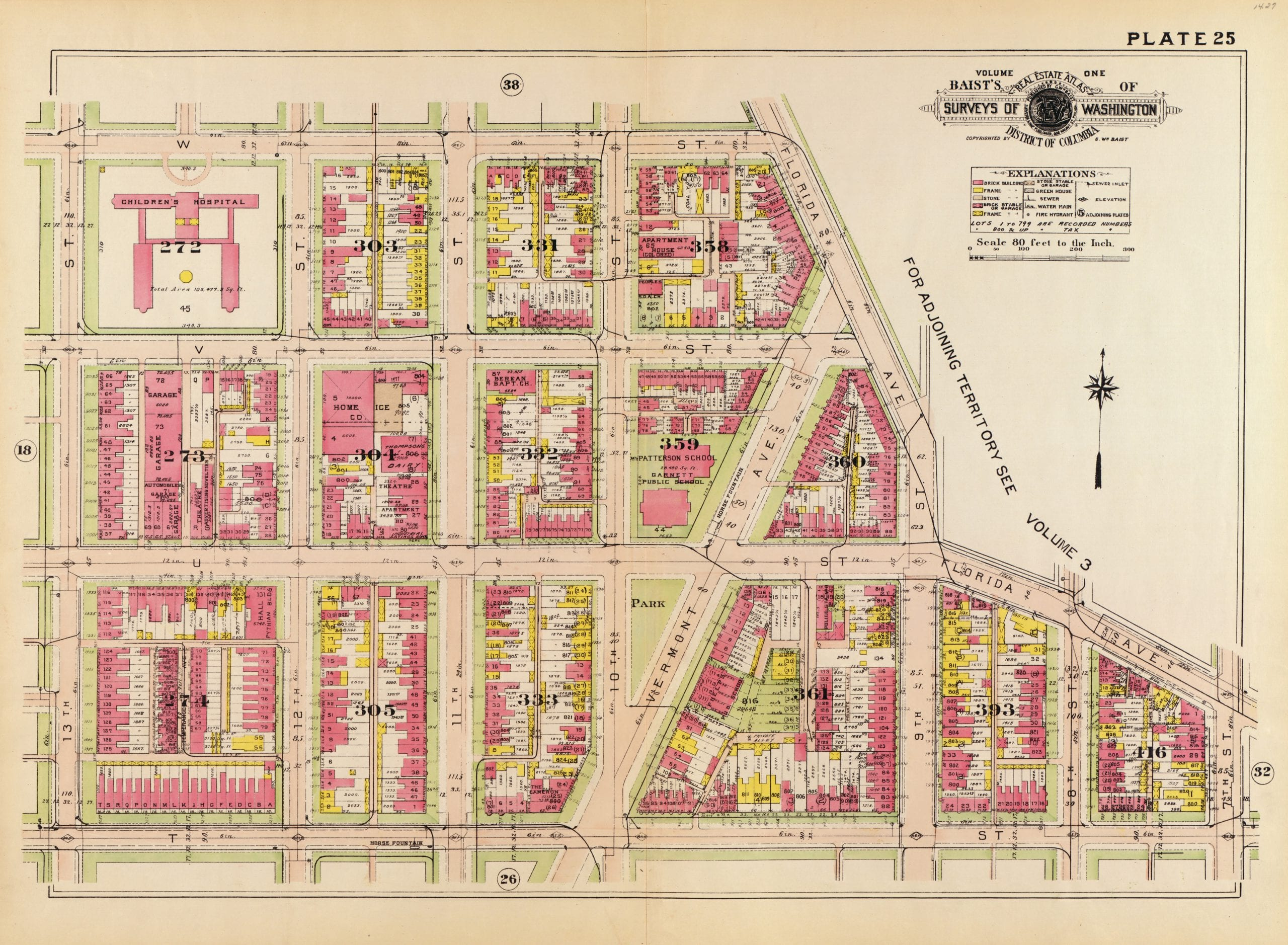 Map of U St. and Shaw Circa 1903 and 1921