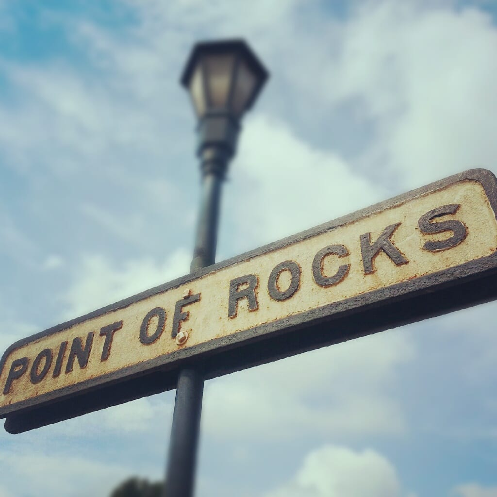 old railroad sign at Point of Rocks