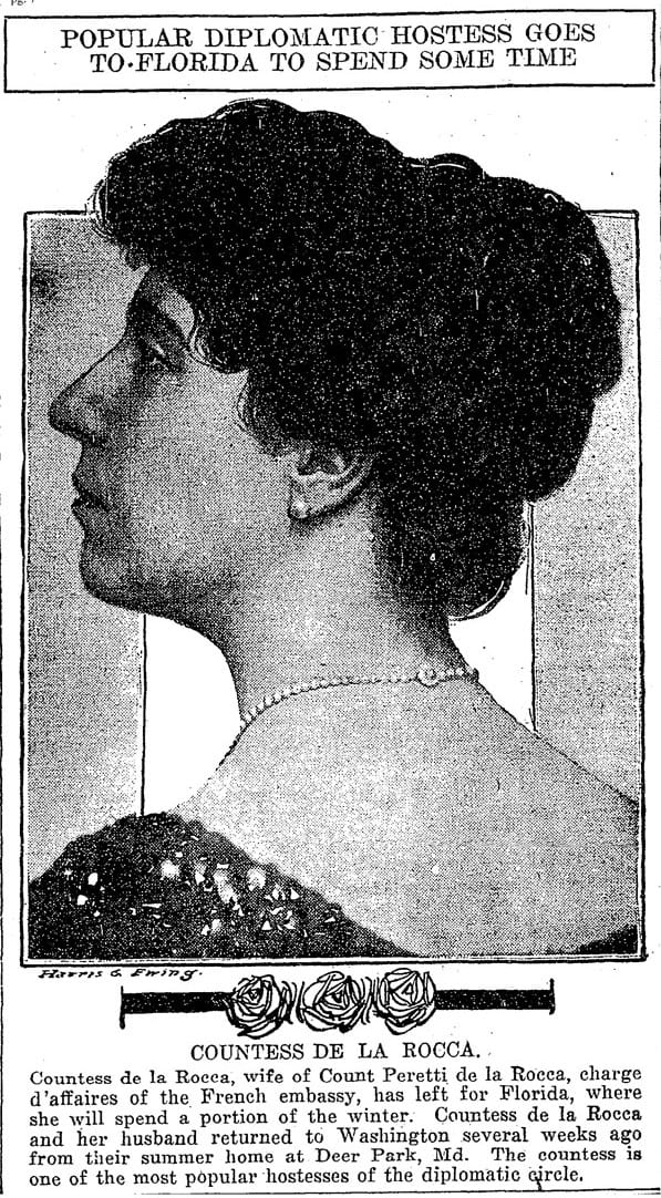 Countess de la Rocca in 1914