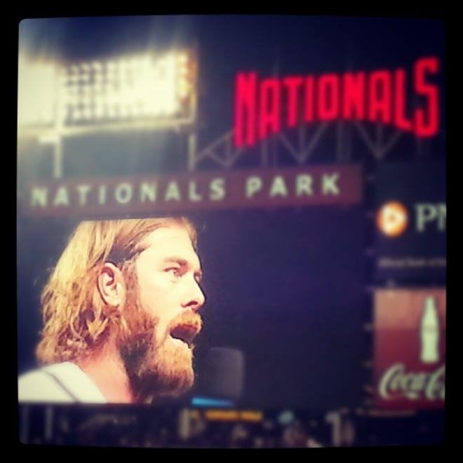 Jayson Werth on the jumbotron