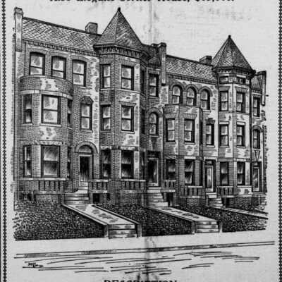 Washington Heights real estate advertisement in 1904
