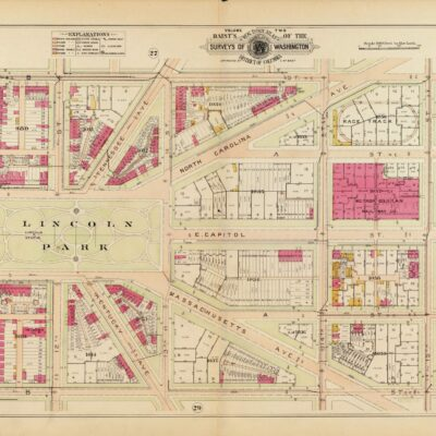 Lincoln Park Baist real estate map in 1903