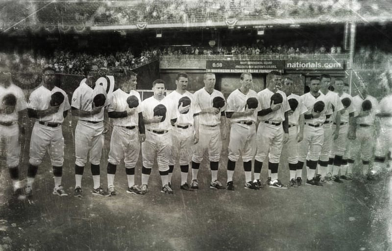 Washington Nationals in 1924 turn back the clock uniforms