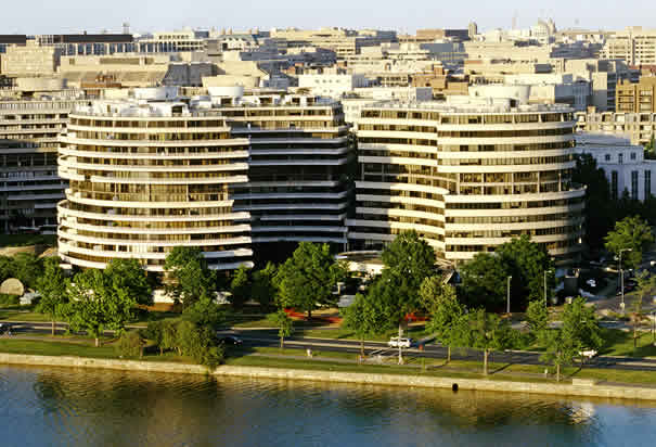 Watergate as viewed across the Potomac