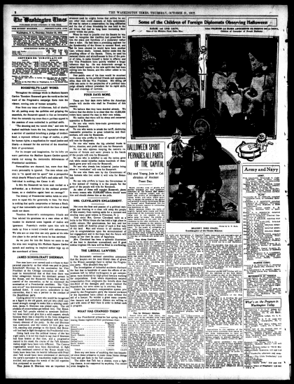 The Washington Times - October 31st, 1912 - page 8