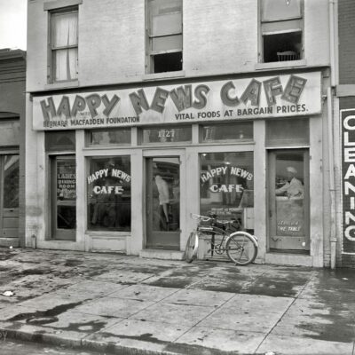 Happy News Cafe on 7th St. in 1937