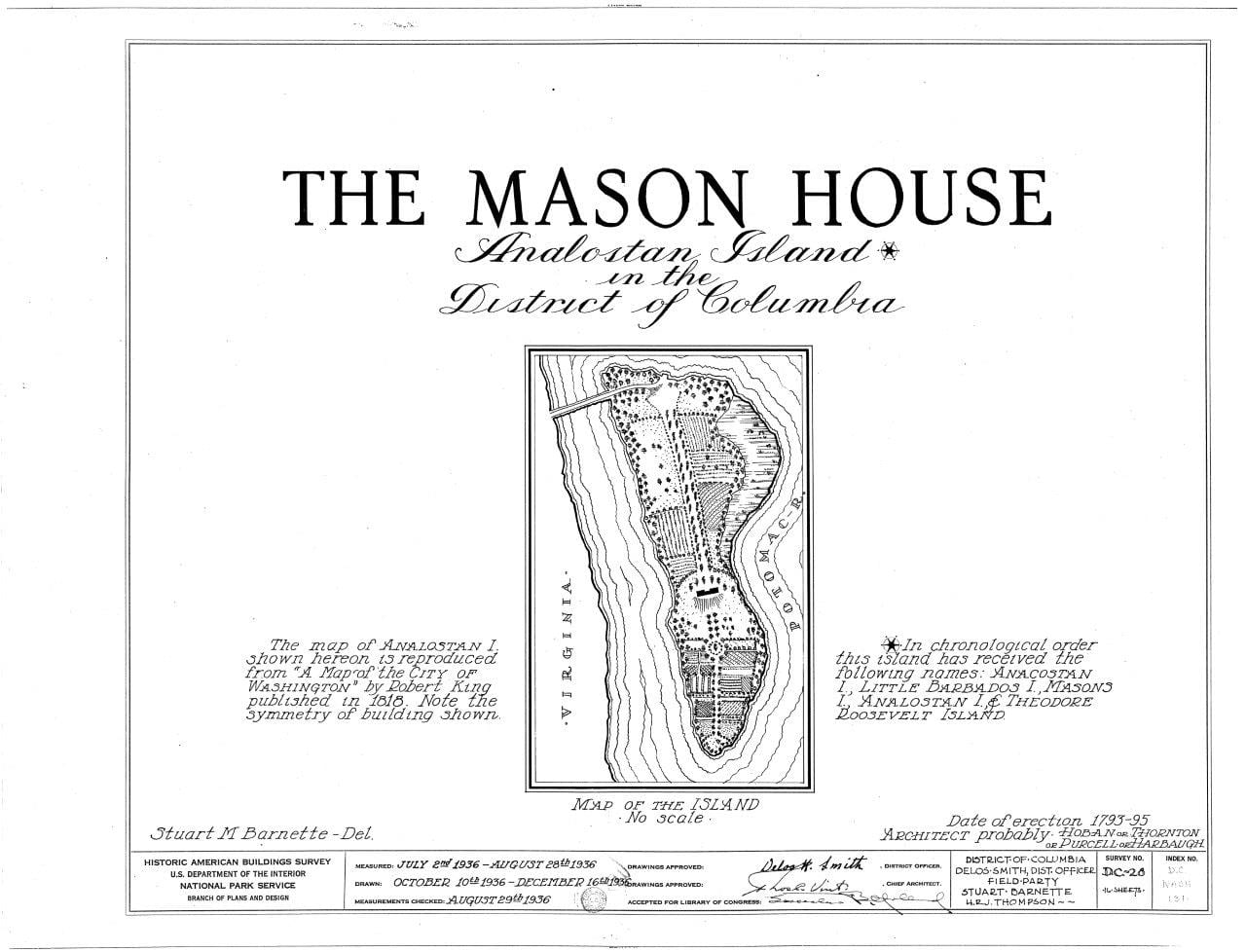 The Mason House on Analoston Island - 1903