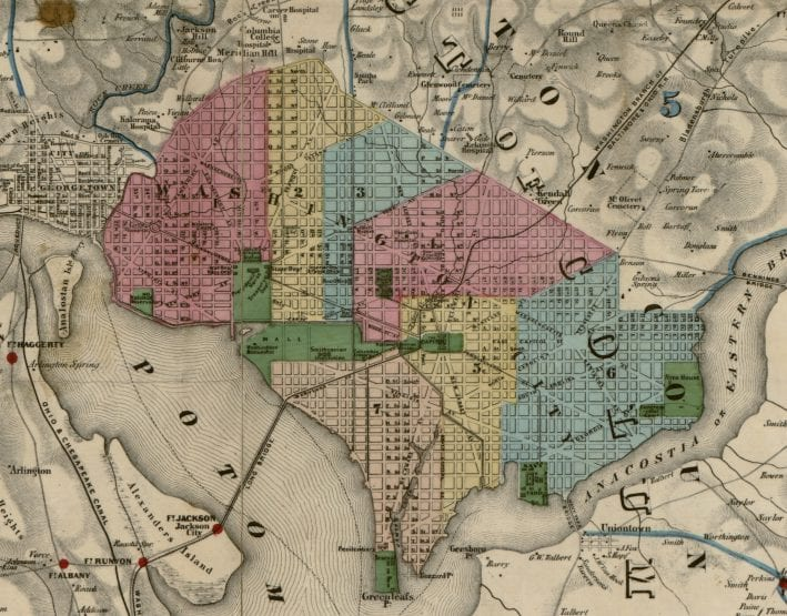 Civil War Map of D.C. Fortifications