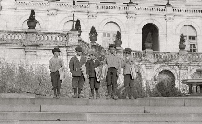 Newspaper Boys at the Capitol in 1912