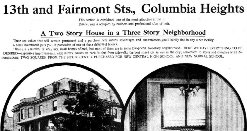 How Much Was a Columbia Heights House in 1911?