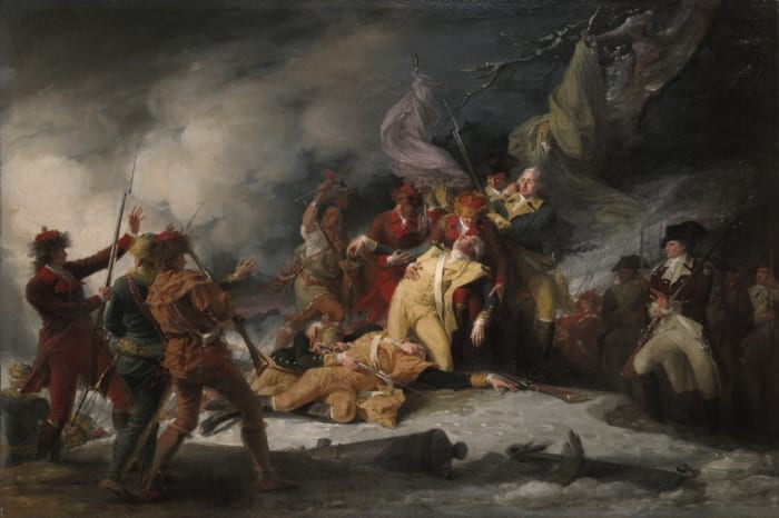 The Death of General Montgomery painted in 1786 (Yale University Art Gallery)