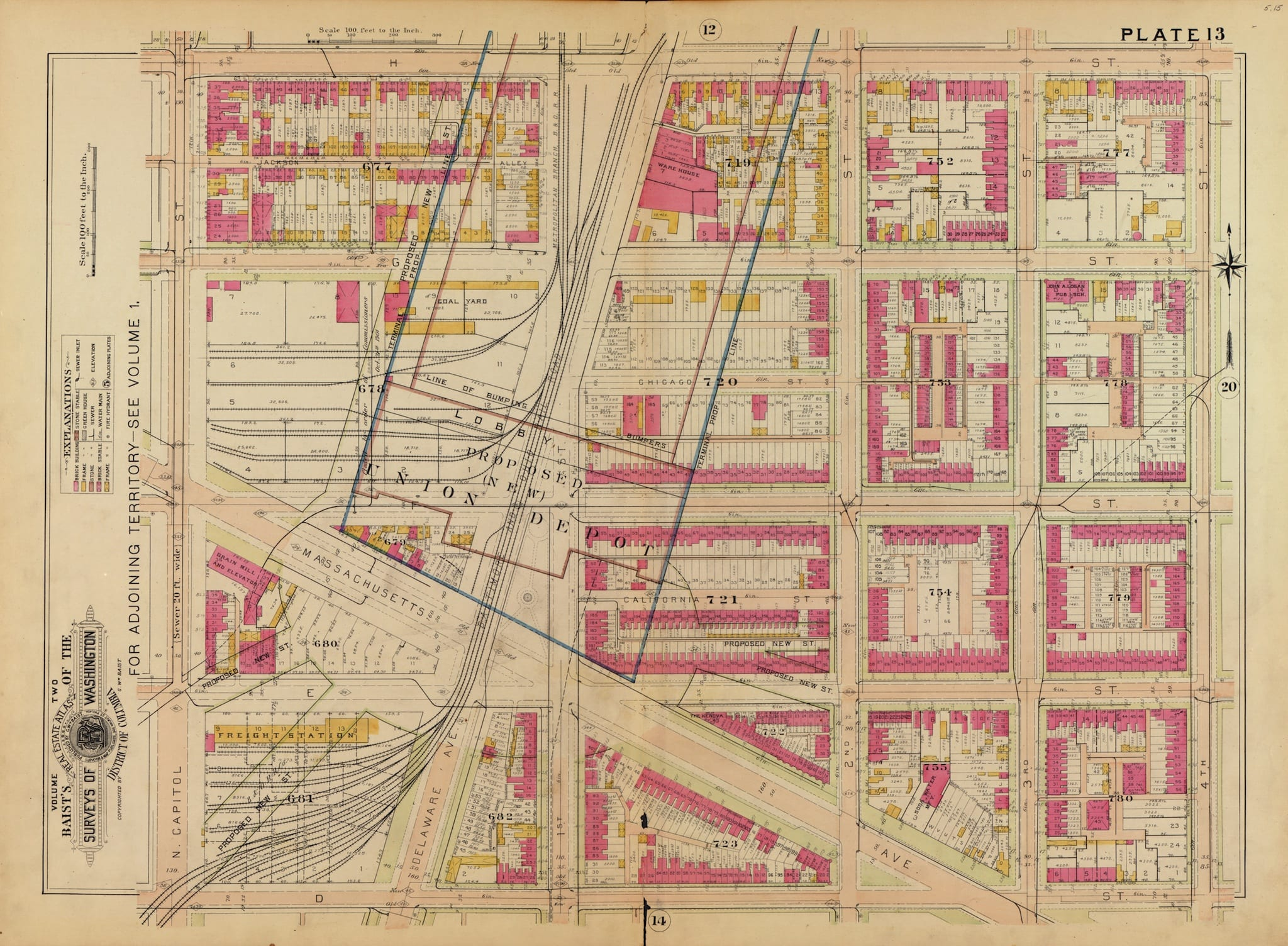 Map of Swampoodle and Proposed Union Depot