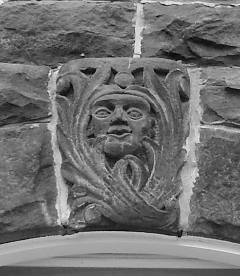decoration above window at 1702 Florida Ave.