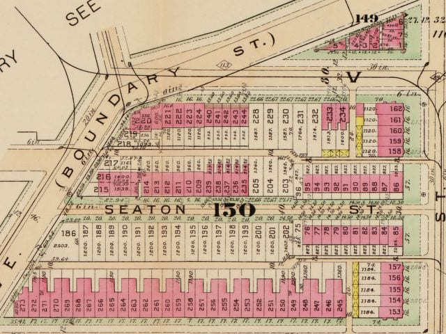 1903 Baist real estate map of lots 149 and 150