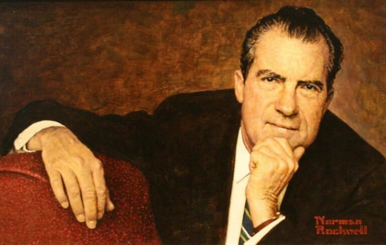 Richard Nixon by Norman Rockwell in 1968