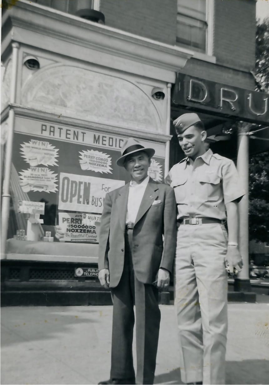 GoDCer Tony's father and uncle in front of store on 8th St. SE near Barracks Row