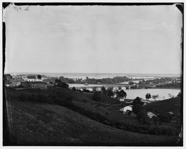 View of Washington and the Potomac from Georgetown in 1865
