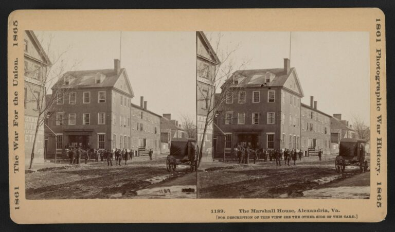 The Marshall House in Alexandria during the Civil War