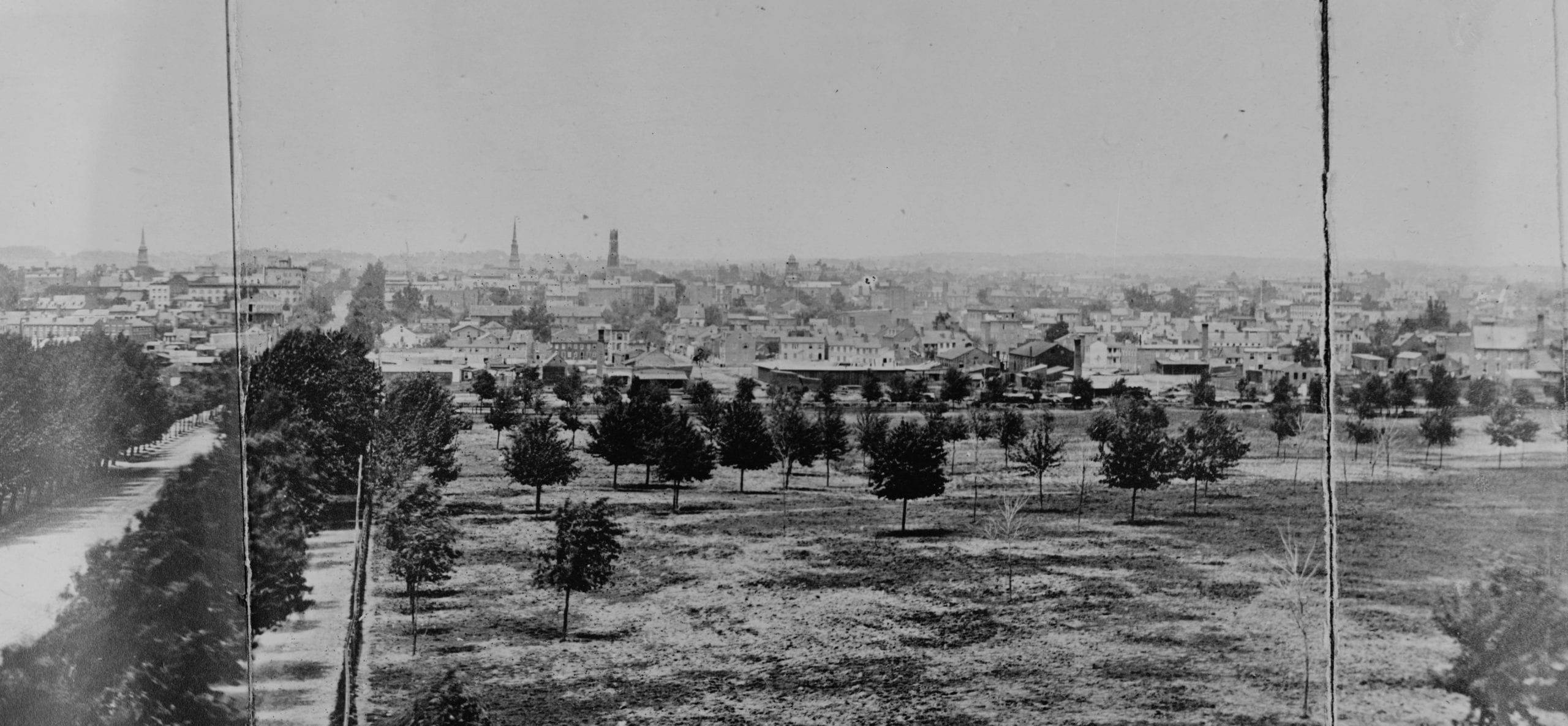 panoramic view of Washington, D.C. in 1865