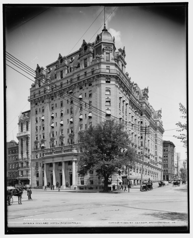 The Willard Hotel in 1904, view up 14th St. NW