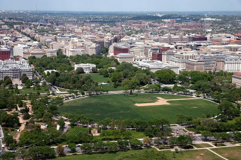 aerial view of the Ellipse