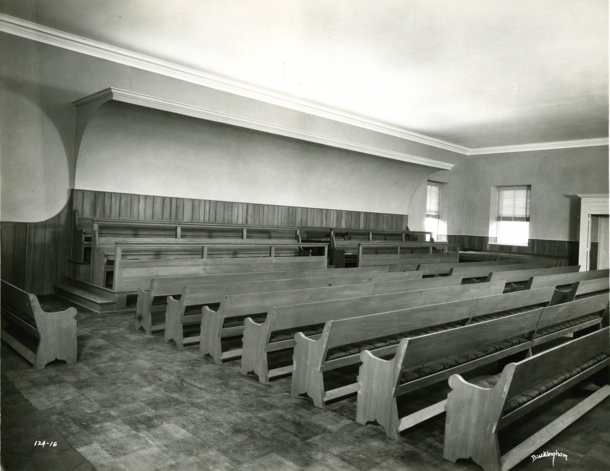 inside the Florida Avenue Quaker Meeting House (Haverford College)