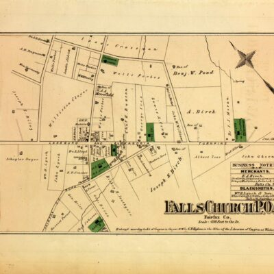 map of Falls Church in 1879