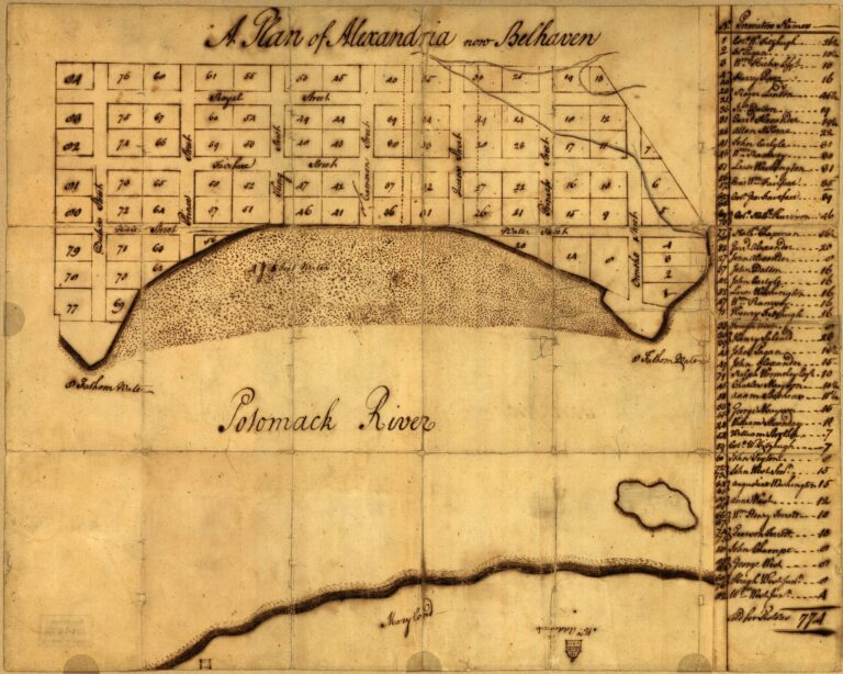1749 map of Alexandria