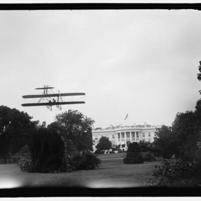 Harry Atwood takes off from the South Lawn - July 14th, 1911
