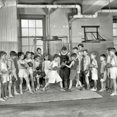 Scrawny Teddy Roosevelt III Boxing With Another Kid