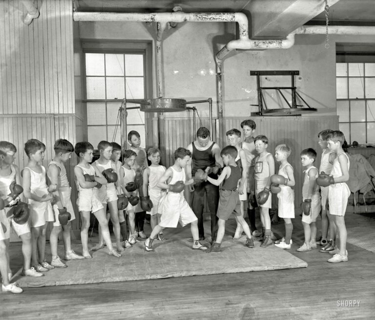 """March 22, 1924. Washington, D.C. """"Theodore Roosevelt III, boxing."""" National Photo Company Collection glass negative."""
