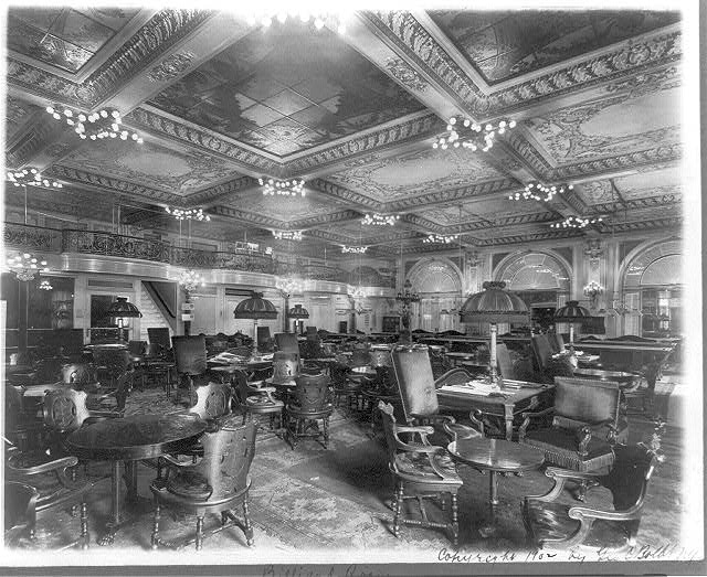 billiards room in the Waldorf-Astoria where Officer Sprinkle hung out