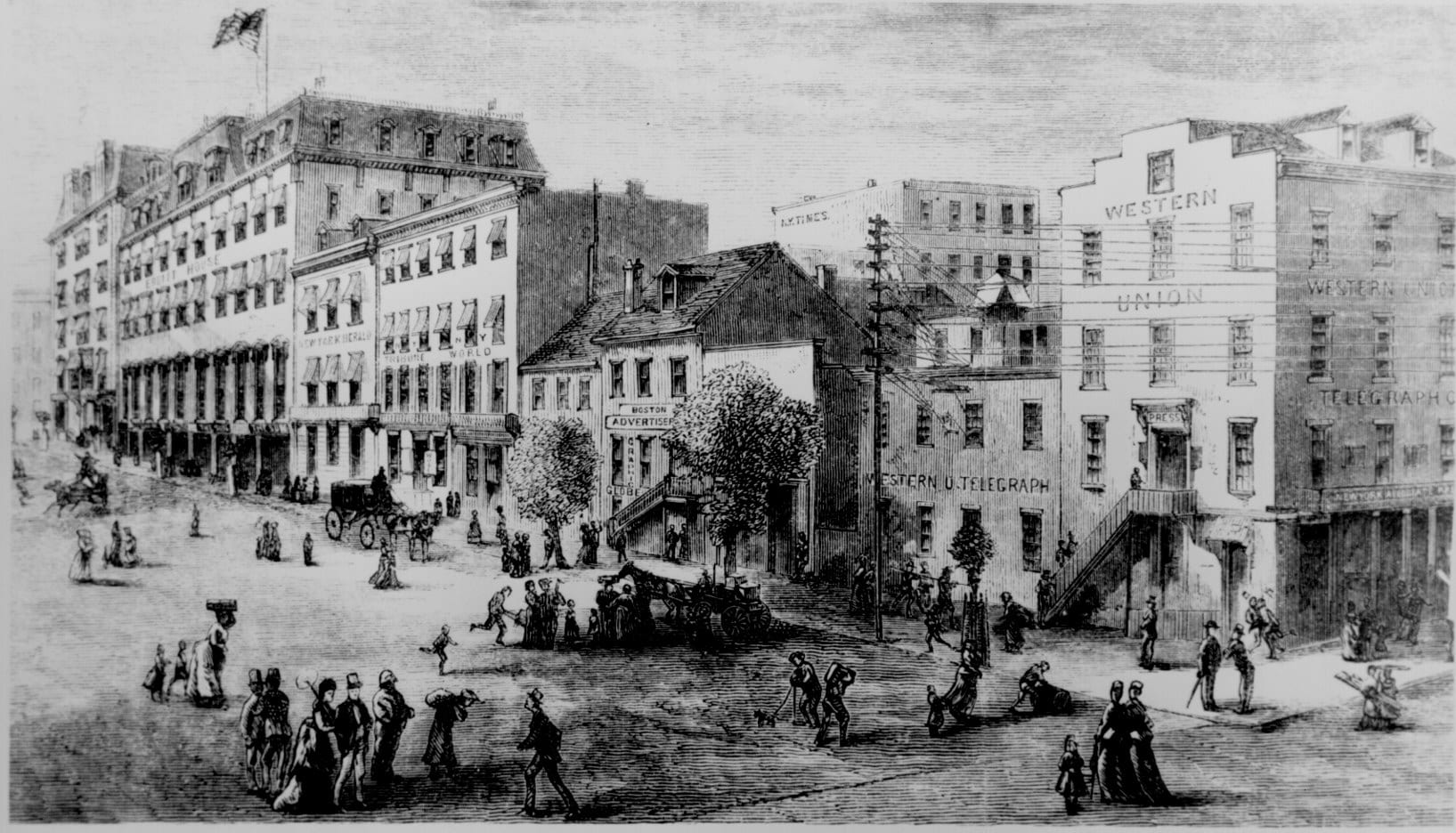 Washington's Newspaper Row in 1874