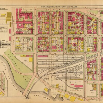 1909 map of D.C. waterfront in southwest