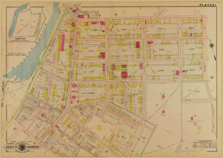 1907 Baist real estate atlas of Anacostia