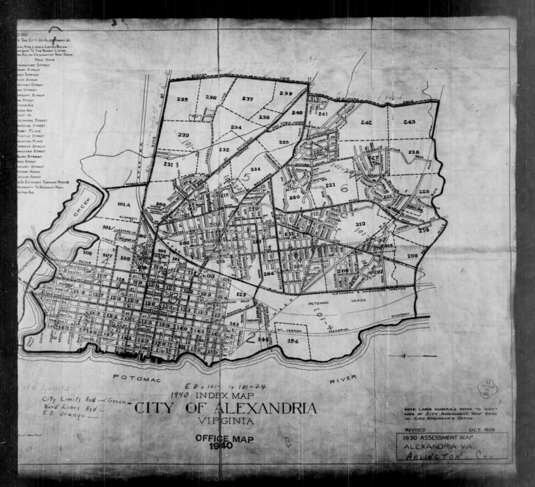 1930 assessment map of Alexandria