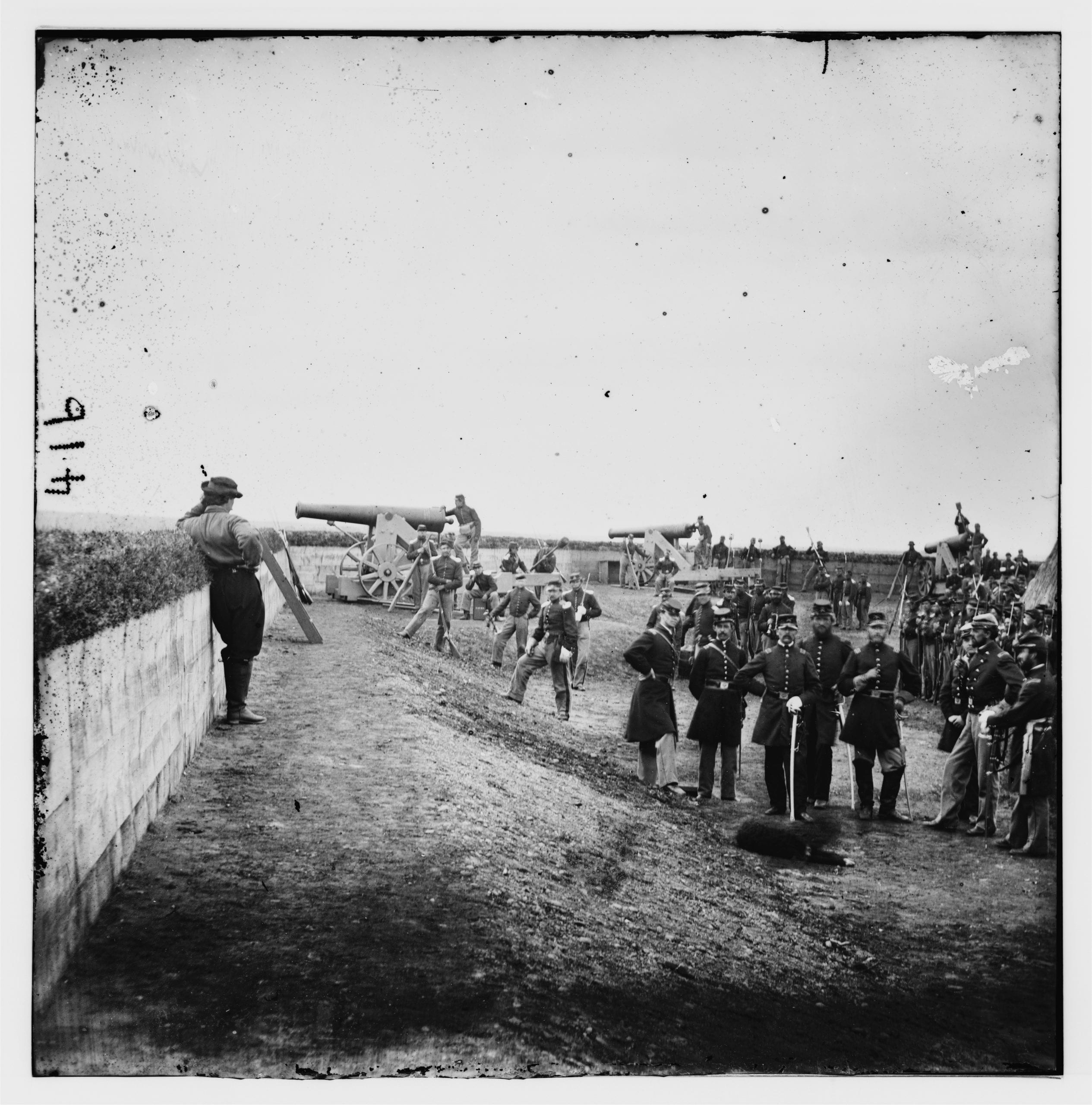 interior of Fort Totten during the Civil War