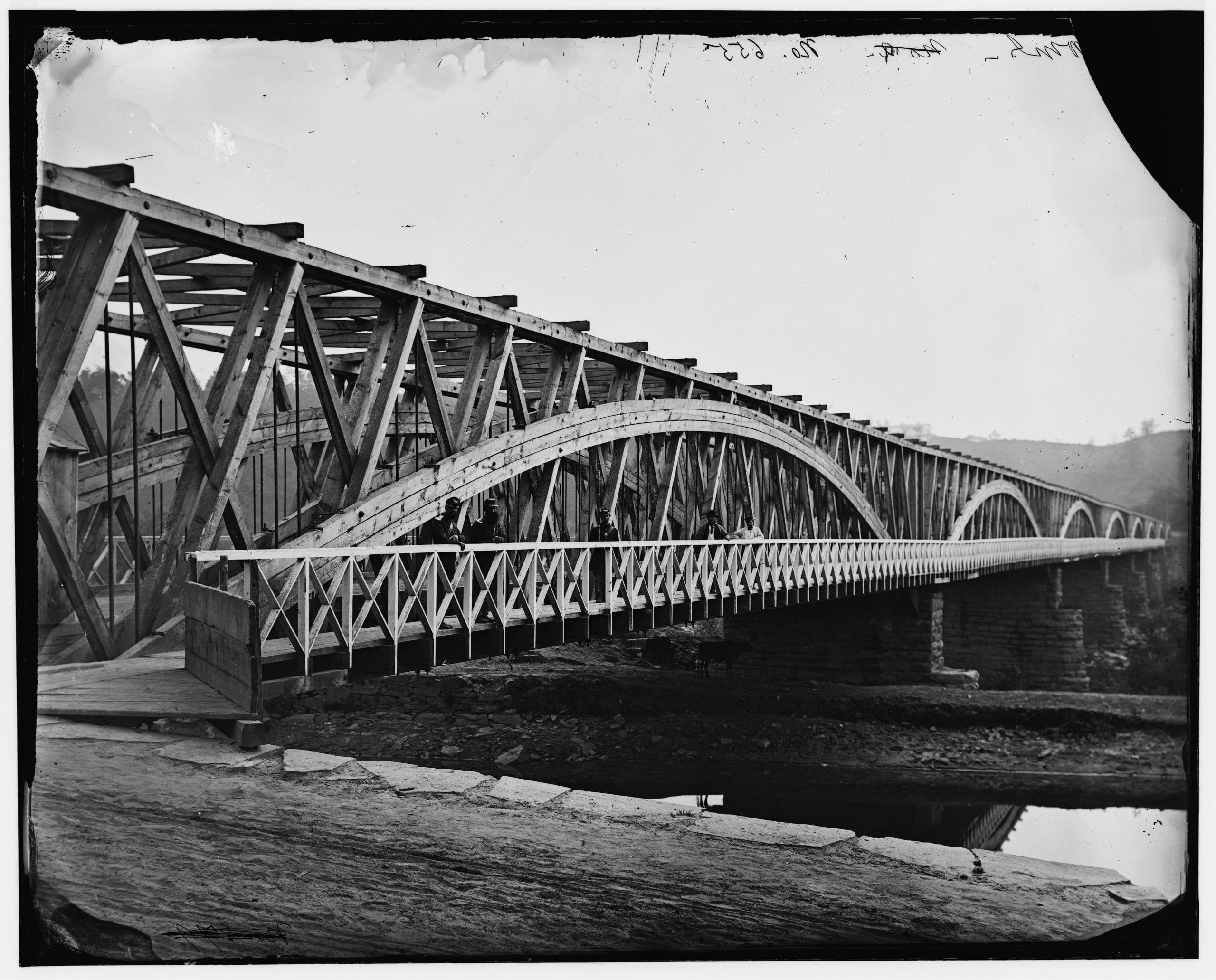 Chain Bridge at the end of the Civil War (Library of Congress)