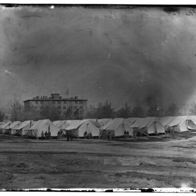 Carver Barracks on Meridian Hill during the Civil War