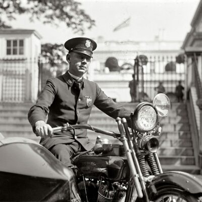 "At the White House gates. ""M.A. Rainey, October 5, 1922."" National Photo Company Collection glass negative."