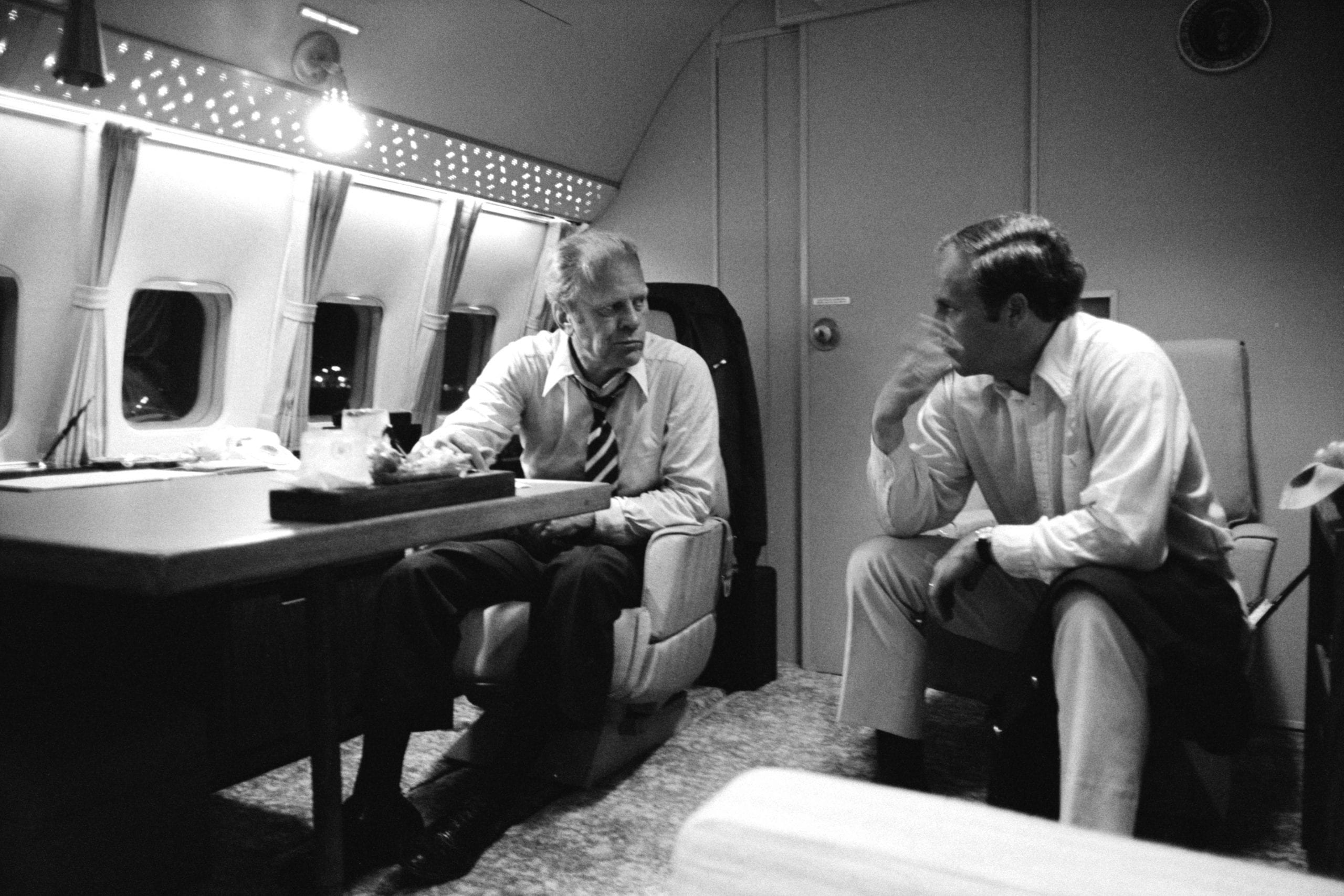 President Ford and Dick Cheney on Air Force One