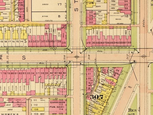 1909 Baist Real Estate Atlas of 12th and S
