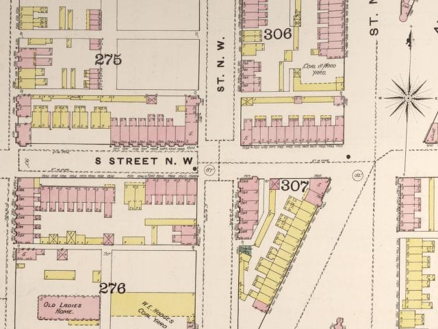 1888 Sanborn Fire Insurance Map of 12th and S St. NW