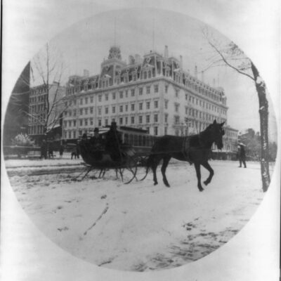 Incredible 1889 Photo of the Old Ebbitt House Hotel